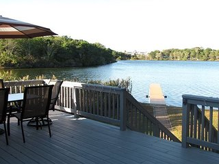 Four bedroom home with amazing views sits directly on Kelley's Pond