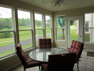 Beautiful Golf Course View from Enclosed Sunroom
