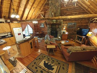 Our pet friendly cabin rental is cozy and inviting.  A great place to relax and unwind.