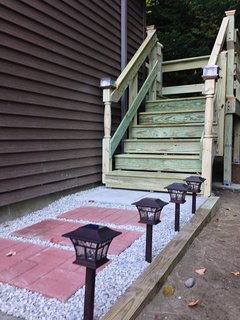 The stairs leading up to your private entrance and deck at Treetop-Retreat.