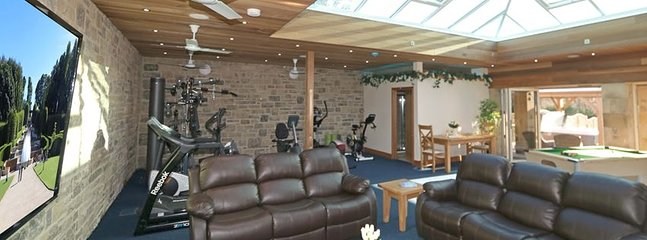 On-site leisure facilities with  gym