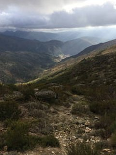 Atmospheric Serra D'Estrela mountain range - highest in Portugal!