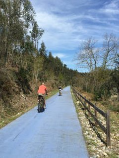 The Ecopiste cycle path in Santa Comba Dao; great river beaches for a refreshing swim along the way!