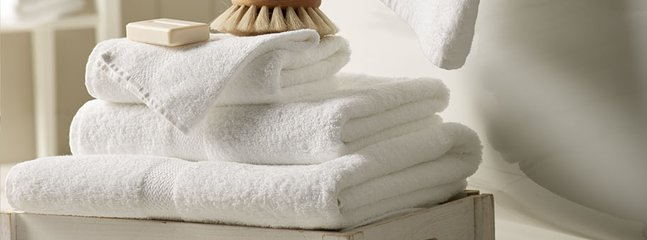 towels and hotel linen are provided