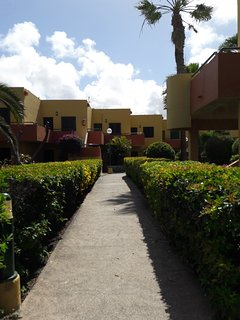 The access path to the main entrance