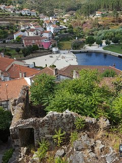 Praia Fluvial de Avo, taken from the castle ruins, in Oliveira do Hospital - historic & lovely town!