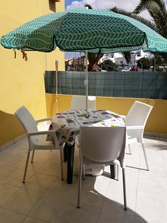 Our patio in the sun