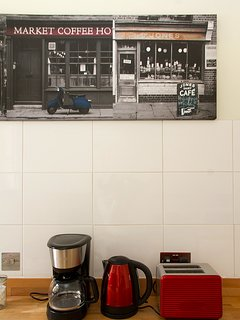 High branded coffee maker, heater and toaster