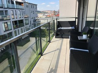 Fully furnished flat with great view on Prague