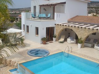 Amarna Villa, with swimming pool in Coral Bay / Sea caves. Paphos Region.