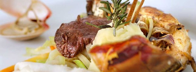 The talented chefs take great pride in the spectacular presentation of their meals.