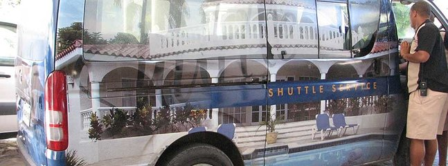 Worried about getting around such a huge resort?  No worries...use the free shuttle day and night.