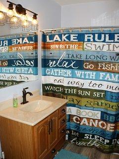 Downstairs full bath.