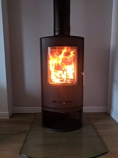 Lovely woodburner for cooler days