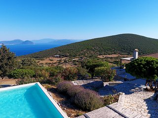 Urania Exclusive villa Geofos. Private pool. Endless blue sea views.