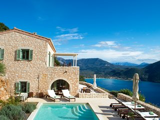 Urania villa Eos. Private Pool. Endless sea views from every space and room.