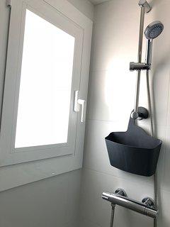 Detalle de la ducha.
