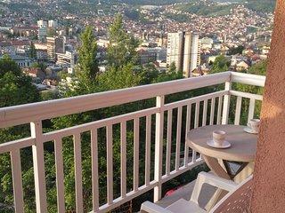 Privileged view of Sarajevo apartment