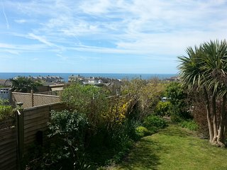 View of the sea from the garden.