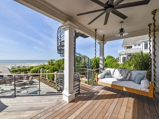 Brand New Oceanfront House on North Forest Beach, Private Beach Patio