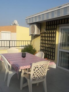 Terrace for twin and double bedroom.