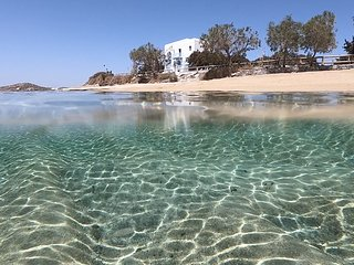 Unique Beachfront Cycladic Villa Agios Prokopios