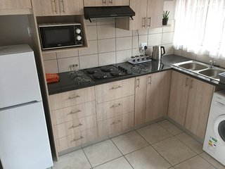 Modern fully-equipped self-catering kitchen