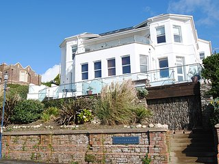 6 Little Beach a stunning seafront apartment with views over the Bay