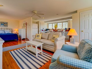 NEW LISTING! Sunlit studio w/private deck & views - near beaches, trails & town!