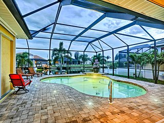 NEW-Cape Coral Home w/Private Dock, Pool, Tiki Bar