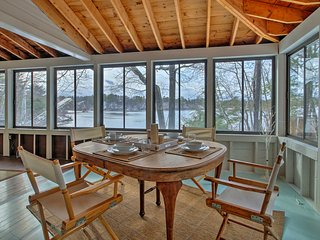 NEW! Waterfront Ossipee Lake Home w/ Sandy Beach!