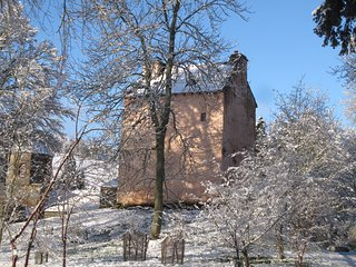 Barns Tower, a romantic castle by the River Tweed.