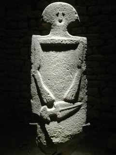 One of'Statue Stele' of Lunigiana.Third millennium AC.Interesting museum in Pontremoli,near our home