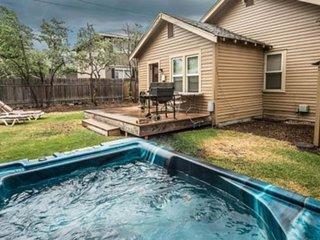 Charming, dog-friendly home w/hot tub & fenced backyard - walk to dining, shops
