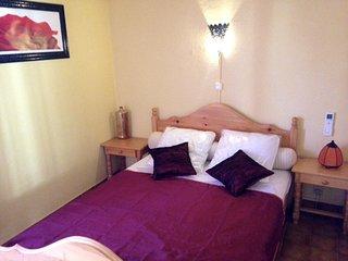 Villa 'RIAD' Naturiste, 2 chambres, Climatisee