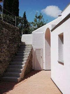 solarium and vegetable garden stair