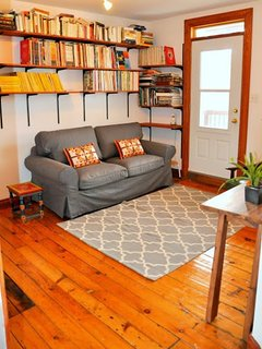 Comfortable SOFA-BED.  Reading and Relaxing space on the second floor.