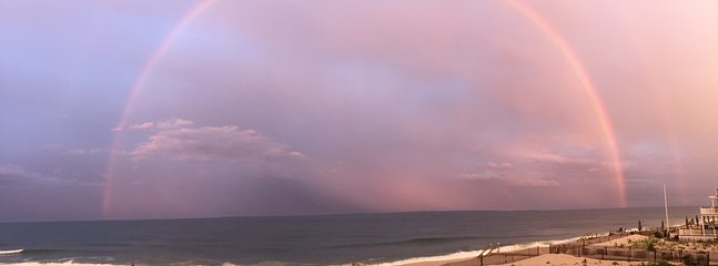 Breathtaking FULL DOUBLE RAINBOW over the ocean at our private beach! STUNNING NATURAL BEAUTY!
