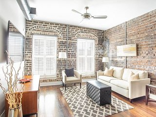 Stay Local in Savannah: Loft Living w/ Exposed Brick on Broughton Street