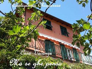 Holiday House 'Ma se ghe penso', 7 km da Sestri Levante, 5 Terre.