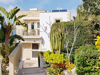 Front on the villa