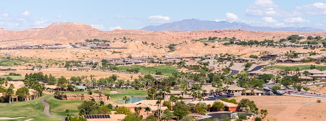 View from the front balcony: Palmer, Canyons and Wolf Creek golf courses
