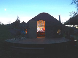 Orchard Yurt at Twilight
