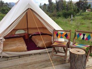 Carpas magicas y cabana en Villa de leyva