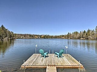 NEW! Mount Pocono Home on Lake w/ Private Dock!