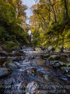The beautiful waterfall Fawn Beig in Queen Elisabeth Forest Park, 10 mins walk from house