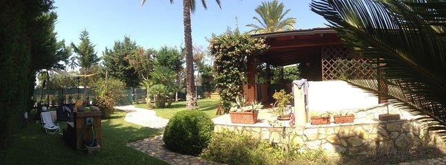 The garden of the villa