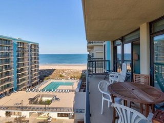 Waterfront condo w/ balcony & views plus shared pool, gym, tennis, & game room
