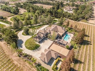 Luxury wine country home w/ saltwater pool, hot tub, stables, terraces & garden!