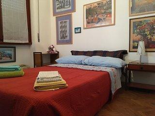 Bella stanza luminosa con bagno privato in un appartamento fiorentino